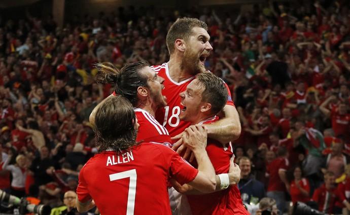 País de Gales gol Bélgica Eurocopa (Foto: Darren Staples / Reuters)