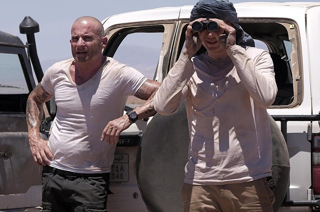 Dominic Purcell e Wentworth Miller em cena de 'Prison break' (Foto: Reprodução)