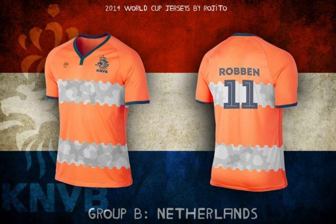 Blog da Copa - design camisa da Holanda
