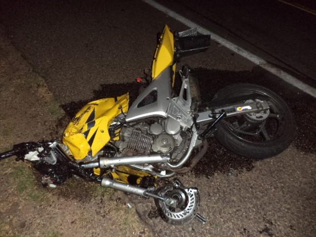Colisão entre carro e moto deixou dois mortos em Tupanciretã (RS) (Foto: Polícia Rodoviária Federal/Divulgação)