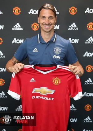 Ibrahimovic Manchester United (Foto: Divulgação/Site oficial do United)