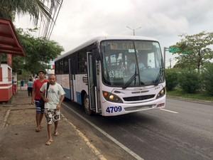 Ônibus da empresa Nossa Senhora da Conceição voltaram a circular em Natal (Foto: Arthur Barbalho/G1)
