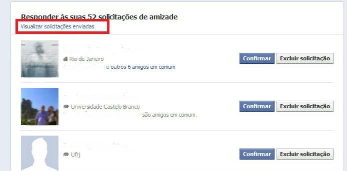 Clique em Visualizar solicitações enviadas (Reprodução/ Taysa Coelho) (Foto: Clique em Visualizar solicitações enviadas (Reprodução/ Taysa Coelho))