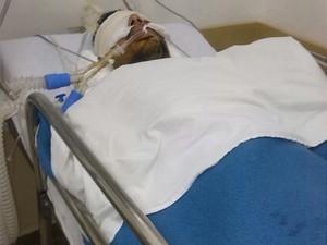 Junior ficou internado em estado grave no Unidade de Pronto Atendimento (Foto: Arquivo Pessoal)