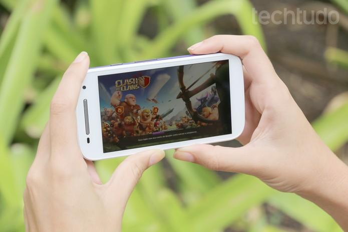Nem jogo, nem vários apps abertos atrapalharam o desempenho do celular (Foto: Carol Danelli/TechTudo)