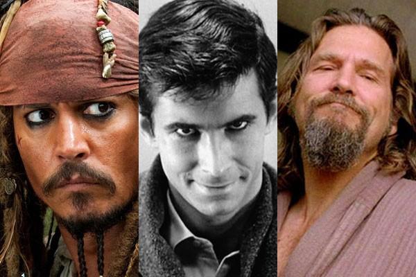 Jack Sparrow, Norman Bates e Jeffrey Lebowski: alguns dos personagens da ficção inspirados em pessoas reais (Foto: Divulgação)