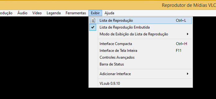 Ativando a exibição da lista de reprodução no VLC  (Foto: Reprodução/Edivaldo Brito)