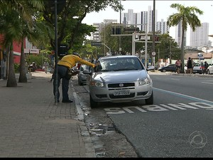 Motoristas que desrespeitarem a faixa vão ser multados (Foto: Reprodução/TV Cabo Branco)
