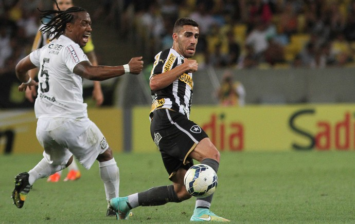 Arouca e Gabriel, Santos x Botafogo (Foto: Vitor Silva / SSPress)