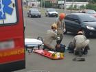 Motociclista fica ferido em acidente em cruzamento na capital de MS