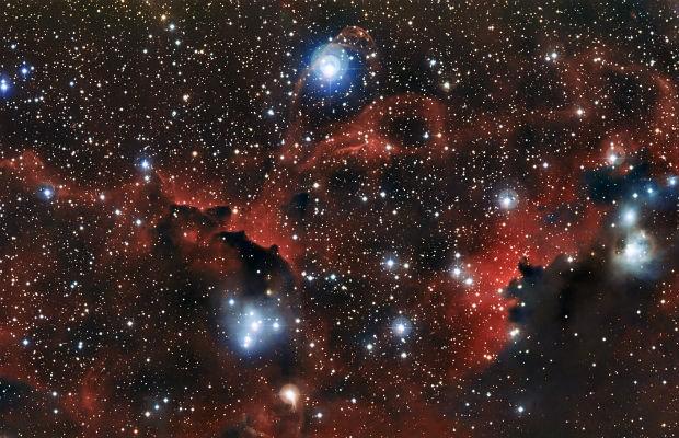 Telescópio capta radiação ultravioleta emitida por Nebulosa da Gaivota (Foto: Divulgação/ESO)