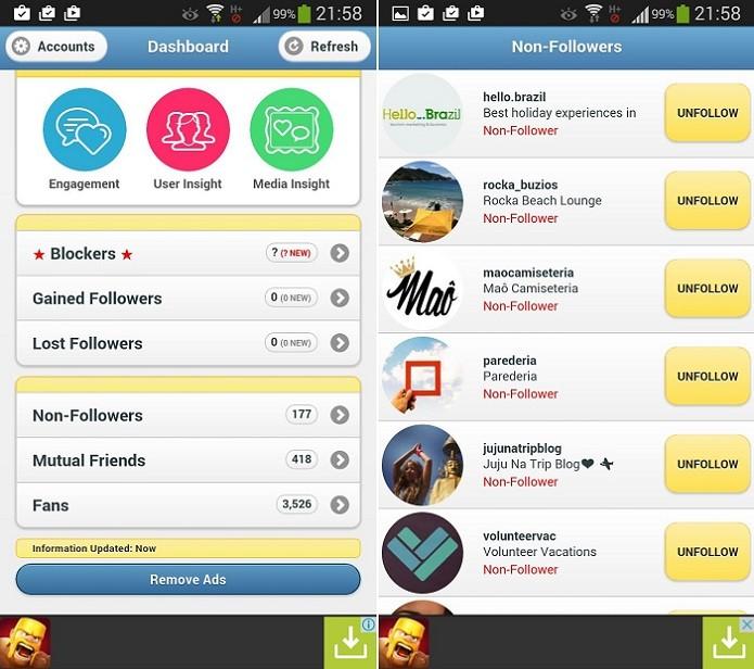 Instafollow é boa solução para o Android (Foto: Reprodução/Thiago Barros)