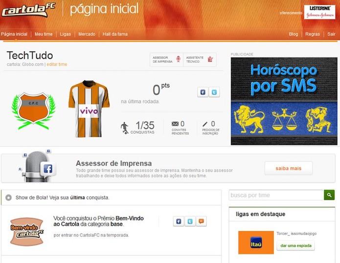 Saiba como jogar Cartola FC pelo celular (Foto: Reprodução/TechTudo)