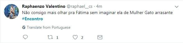 Internauta comenta edição do 'Encontro com Fátima Bernardes' (Foto: Reprodução / Twitter)