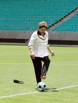 Dilma Rousseff presidente na arena fonte nova (Foto: Manu Dias / GOVBA)