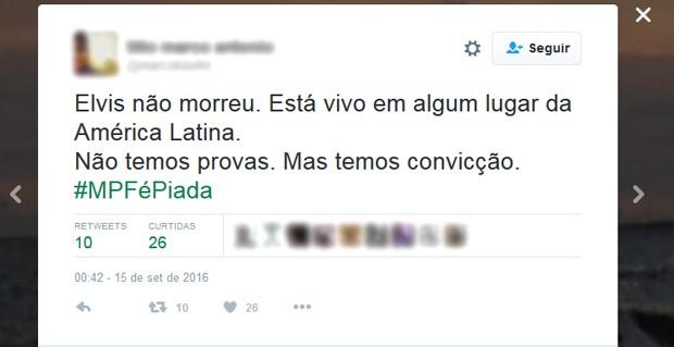 Internauta ironiza denúncia do MPF contra o ex-presidente Lula (Foto: Reprodução/Twitter)