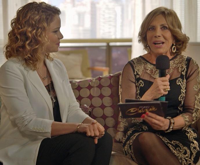 Leandra Leal é a terceira entrevistada do Puro Chiquê (Foto: TV Globo)