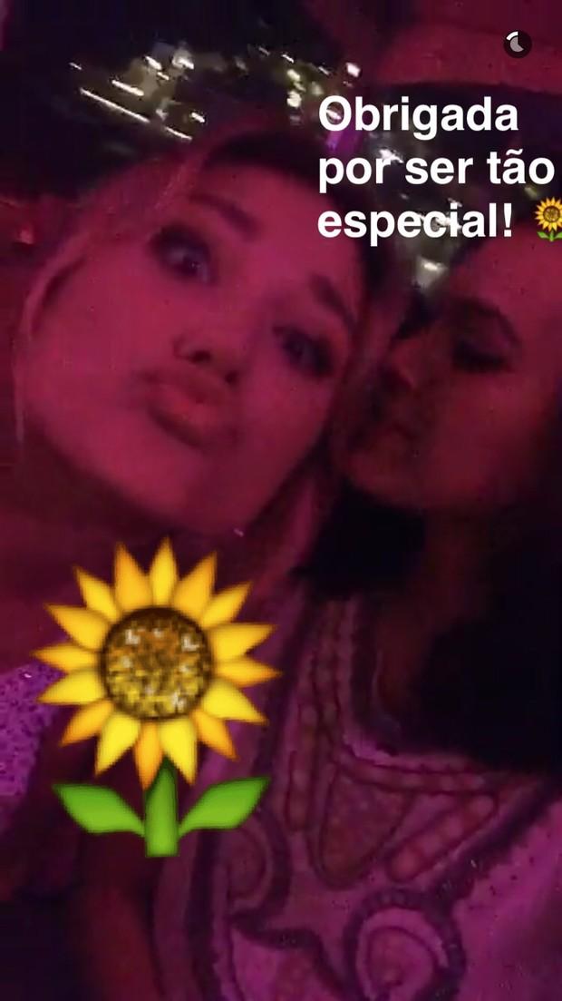 Sasha e Bruna Marquezine (Foto: Snapchat / Reprodução)