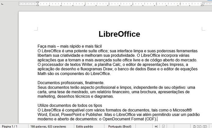 LibreOffice nunca será pago (Foto: Divulgação)