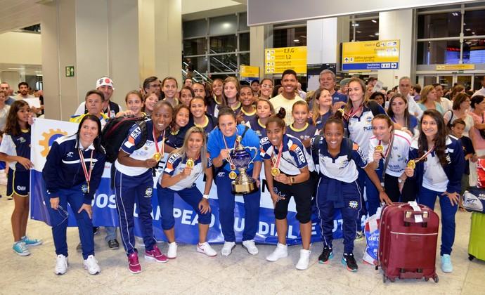 São José futebol feminino título Mundial de Clubes (Foto: Danilo Sardinha/GloboEsporte.com)