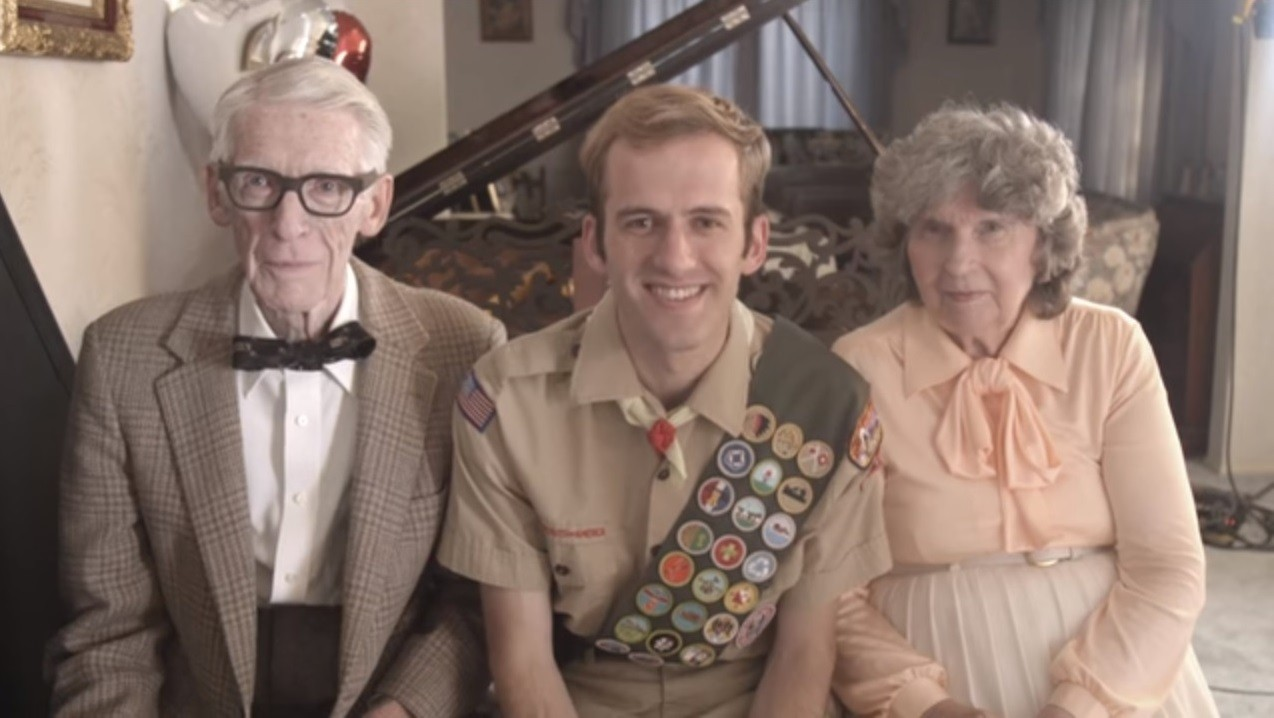 O casal americano e o neto, produtor do vídeo