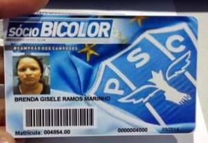 Brenda Gisele Ramos Marinho é a sócia de número 4.000 do Paysandu (Foto: Reprodução/site oficial do clube)