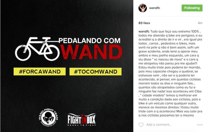 """BLOG: Após acidente, Wand terá que operar o ombro e o joelho: """"Poderia ter morrido"""""""