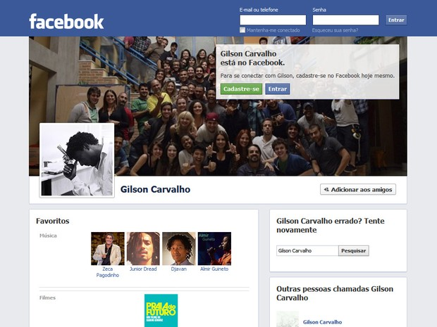Gilson Francisco de Carvalho foi encontrado morto neste sábado (12) (Foto: Reprodução/Facebook)