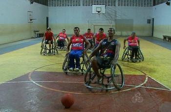 Time de basquete em cadeira de rodas de Rio Branco (Foto: Reprodução/TV Acre)