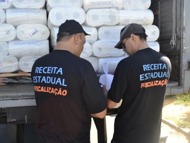 Receita Estadual fez operação no RS (Foto: Janine da Silva Guimarães/Sefaz)