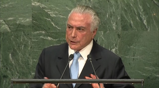 Michel Temer fala sobre processo de impeachment em seu discurso na ONU