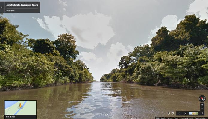 Projeto também registrou imagens de rios da região (foto: Reprodução/Google)