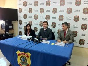 Andréa Assunção, Renato Casarini e Francisco Soares (Foto: Diana Vasconcelos / G1 CE)
