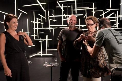 Fabiula Nascimento, Marcos Bernstein e Fernanda Montenegro (Foto: Divulgação)