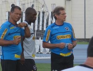 Seedorf Oswaldo de Oliveira Botafogo treino (Foto: Thales Soares)