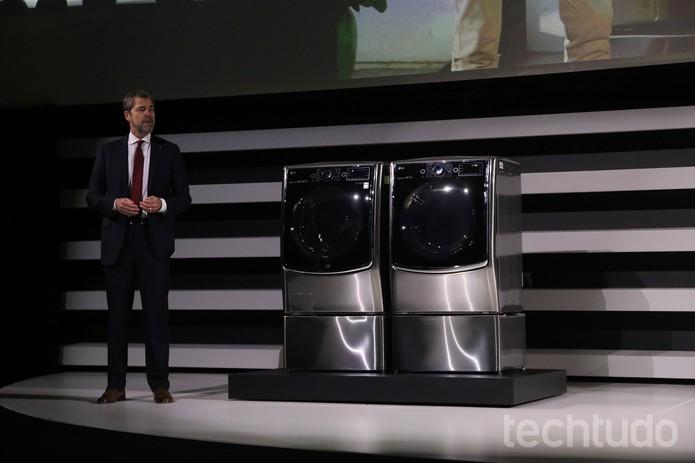 LG apresenta TurboWash 2.0 para quem precisa lavar roupa em tempo recorde (Foto: Fabrício Vitorino/TechTudo)