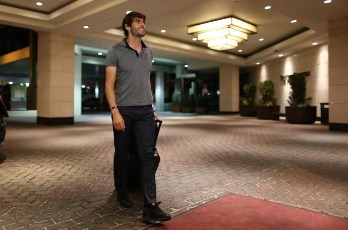 Kaká desembarque em Denver Seleção (Foto: Lucas Figueiredo / MoWA Press)