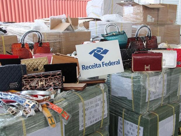 Receita Federal apreendeu produtos em Suape (Foto: Divulgação / Receita Federal)