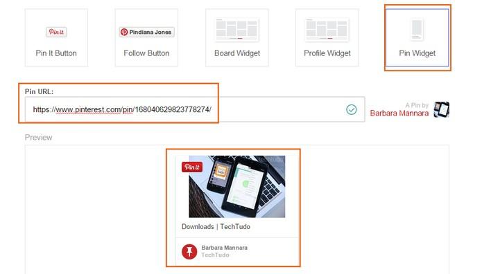 Acesse a ferramenta e adicione o link para gerar o código no Pinterest (Foto: Reprodução/Barbara Mannara)