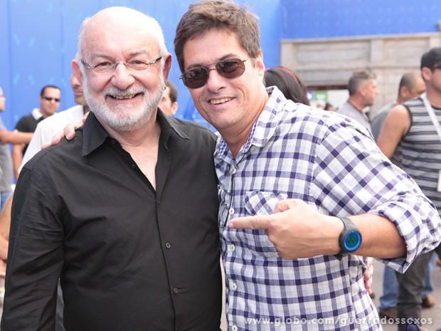 Silvio de Abreu, autor da trama, e o diretor Marcelo Zambelli (Foto: Guerra dos Sexos / TV Globo)