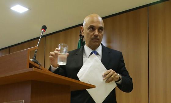 O ministro da Justiça, Alexandre Moraes, fala sobre a Operação Hashtag, que prendeu pessoas investigadas por pertencer a célula do Estado Islâmico no Brasil (Foto: José Cruz/Agência Brasil)