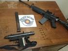 Homem é preso pela polícia com metralhadora e fuzil em Cabreúva