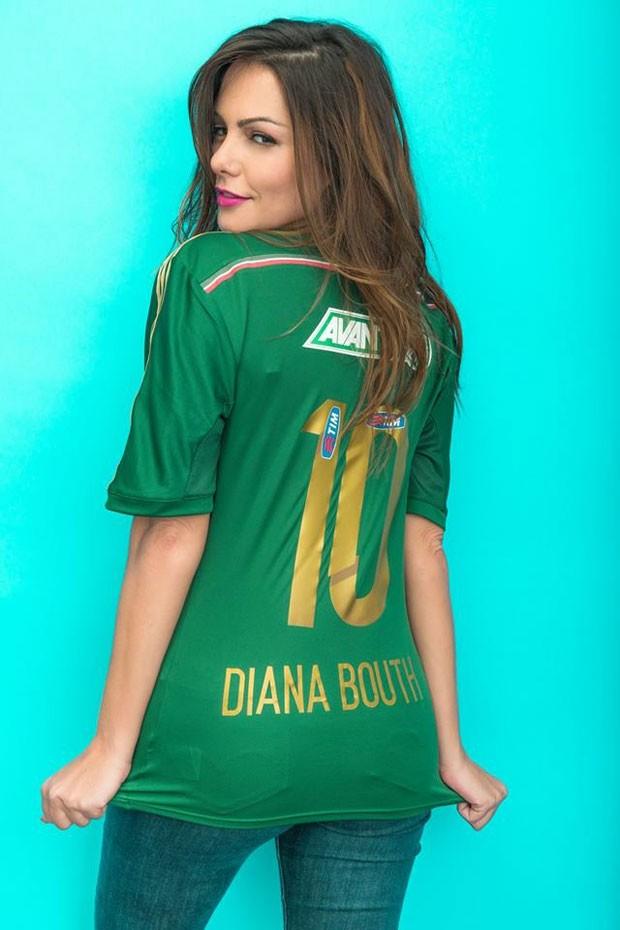 Fotos de Diana Bouth camisa do Palmeiras