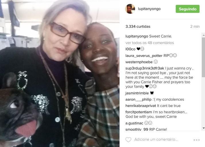 Lupita faz homenagem (Foto: Reprodução/Instagram)