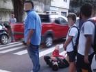 Homem fica ferido em acidente de trânsito em Petrópolis