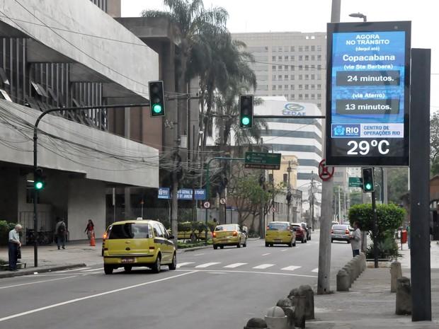 Relógios vão mostrar tempos de divulgação (Foto: Divulgação/Prefeitura do Rio)