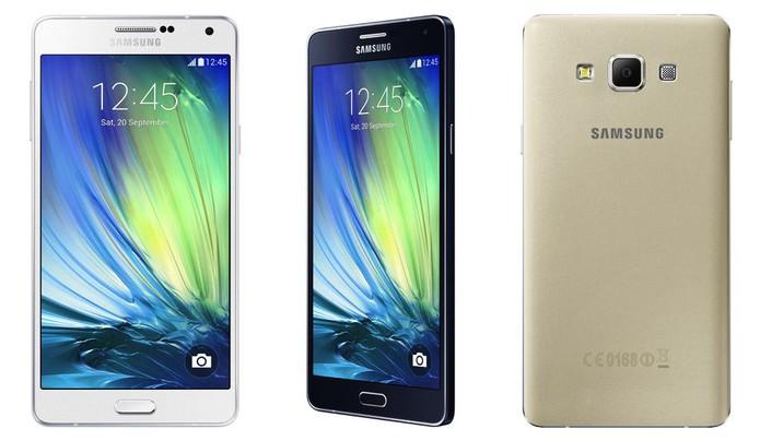 Galaxy A7 possui câmera frontal com melhor qualidade mas perde nos recursos da traseira (Foto: Divulgação/Samsung)