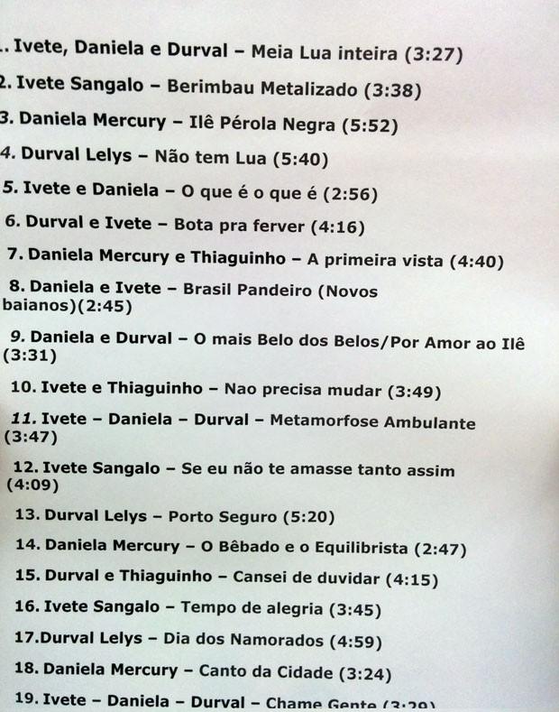 Setlist: Ivete Sangalo, Daniela Mercury e Durval Lelys no Msica Boa Ao Vivo (Foto: Multishow)