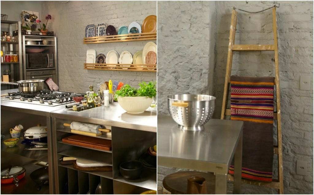 Inspirese nos detalhes da decoração da nova cozinha da Rita Lobo  Cozinha P # Cozinha Simples Gnt