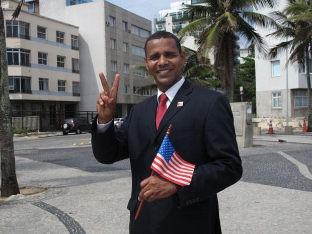 Sósia Obama (Foto: Marcelo Elizardo/ G1)